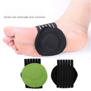 Generic Shoe Insole Comfortable Instep Pad Insoles Foot Health Flat Arch Support-black & Green