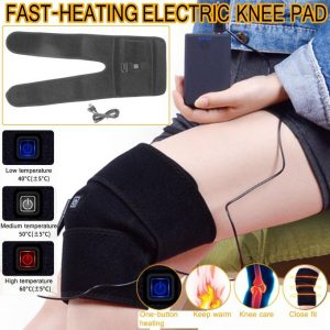 Generic Electric Knee Heating Pad Warm Therapy Wrap Arthritis Pain Relief Brace Massage