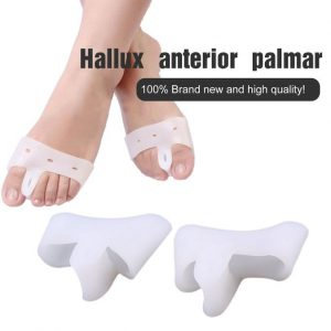 Generic Pair Silicone Sub Toe Thumb Hallux Valgus Correction Straightener Braces-white
