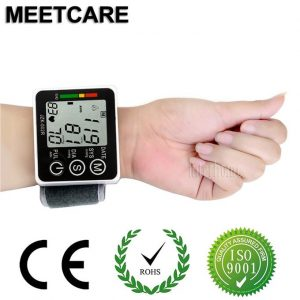 Generic Home Health Care Wrist Blood Pressure Monitor Household Automatic Digital LCD Sphygmomanometer Hypertension Heart Pulse Oximeter