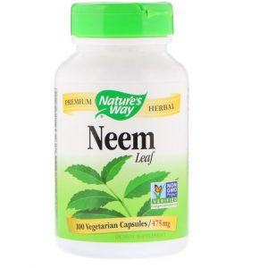 Now Foods Neem Leaves, 475 mg, 100 Capsules Improves Gastric Health, Anti-cancer properties, Detoxifies the body and Anti bacterial Properties.