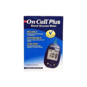 On Call Plus Glucometer - Blue